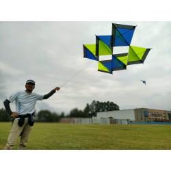 Cometa 3D con estructura tipo Peter Lynn